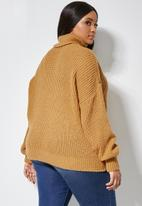 Superbalist - Rolled neck chunky jumper - yellow