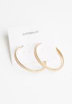 Superbalist - Amber hoop earrings - gold