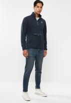 Hurley - Pendleton sherpa quarter zip sweatshirt - navy