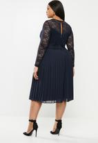 MILLA - Lace pleated dress - navy
