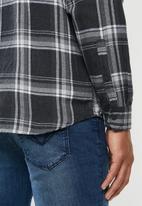 Hurley - Creeper washed shirt - black & white