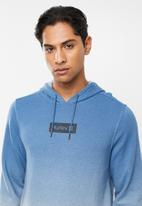 Hurley - Dipdye one & only blocked hoodie - blue & grey