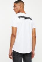 S.P.C.C. - Allen slub logo tee - optical white