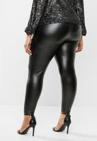 MILLA - Pu pleather pant - black