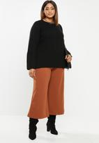 edit Plus - Raglan rib jumper - black