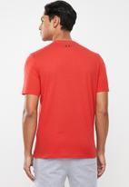 Under Armour - Sportstyle logo tee - red & white