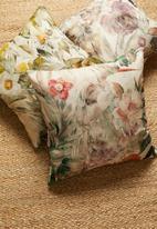 Hertex Fabrics - Highgrove cushion cover - tigerlily