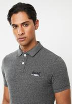Superdry. - Classic pique short sleeve polo tee - grey