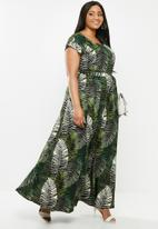AMANDA LAIRD CHERRY - Scoopneck fit and flare maxi dress - multi