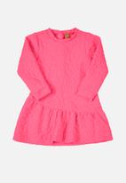 UP Baby - Baby long sleeve dress - pink