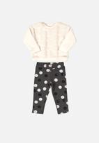 UP Baby - Baby sweatshirt & pants set - white & grey