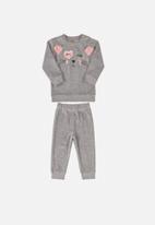 UP Baby - Baby sweatshirt & pants set - grey