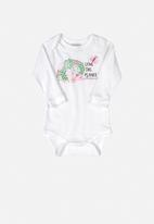 UP Baby - Baby printed bodysuit - white
