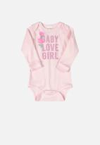 UP Baby - Baby Printed bodysuit - pink