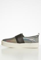 Miss Black - Abbey flatform sneaker - grey
