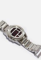 Nixon - Unit ss - silver & red