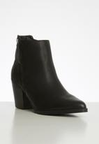 POLO - Alicia double zip ankle boot - black
