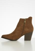 POLO - Alicia double zip ankle boot - tan