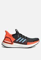adidas - UltraBOOST 19 - core black/glow blue/hi-res coral