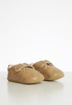 POP CANDY - Velcro strap brogue - stone