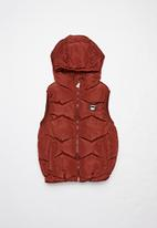 POP CANDY - Boys puffer vest - red
