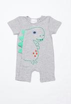 POP CANDY - Baby short sleeve grow-on - grey multi