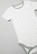 POP CANDY - Short sleeve spot bodysuit - white & grey