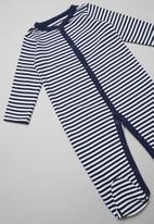 POP CANDY - Boys striped grow on - navy/white