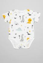 POP CANDY - Dino babygrow - white multi