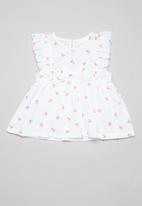 POP CANDY - Baby cherry print dress - white