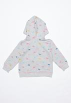 POP CANDY - Girls rainbow dino hoodie - grey