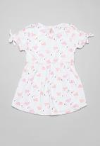 POP CANDY - Flamingo dress - white & pink