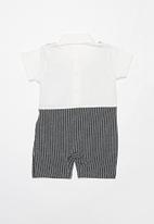 POP CANDY - Boys grow-on mini suit - charcoal