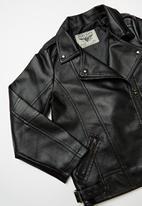 POP CANDY - Girls pvc jacket - black