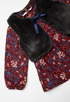 POP CANDY - Dress & sleeveless coat set - burgundy