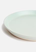 Sixth Floor - Ashen dinner plate set of 4 - duck egg