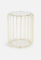SF Collection - Ribbed side tables set of 2 - gold