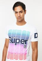 Superdry. - Super blend colours tee - white