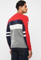 Superdry. - Superdry mega logo crew sweater - grey