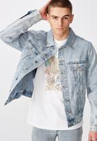 Factorie - Garage denim jacket - washed blue