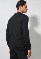 Superbalist - Basic slim fit V-neck knit - black