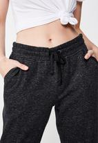 Cotton On - Slim fit trackpant - black