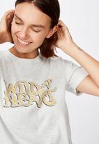 Cotton On - Essential slogan T-shirt wild at heart - neutral