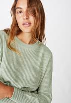 Cotton On - Archy cropped pullover - jade seafoam twist