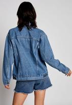 Cotton On - Not your boyfriends denim trucker jacket - cali blue