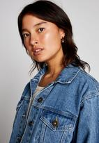 Cotton On - Not your boyfriends denim trucker jacket - cali blue