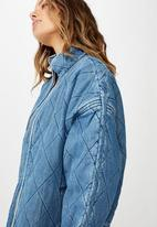 Cotton On - Toni quilted bomber - chambray