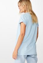 Cotton On - Classic iwd boss babe T-shirt - blue