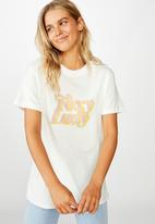 Cotton On - Classic iwd foxy lady T-shirt - gardenia