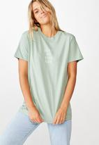 Cotton On - Classic slogan T-shirt just as you are - jade